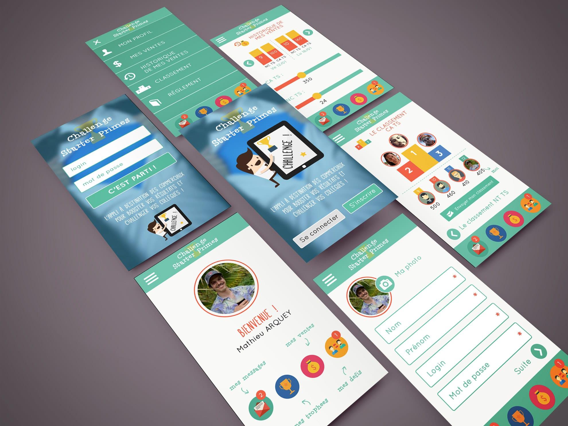 Appli mobile ux ui design