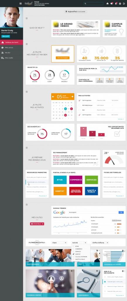 Webdesigner bordeaux : ergonomie dashboard portal commercial1