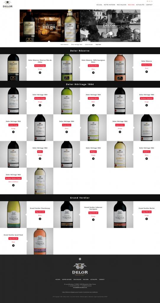 Webdesign site château vin