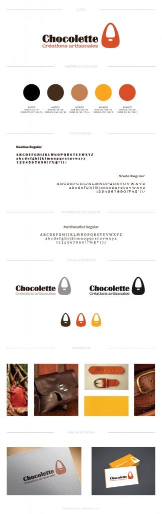 charte graphique creation logo Chocolette